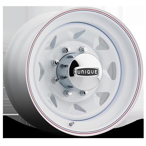 Unique Series 21 White 8 Spoke Wheels SoCal Custom Wheels