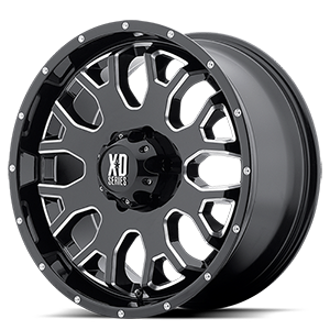 XD808 Menace Gloss Black with Milled Accents 6 lug