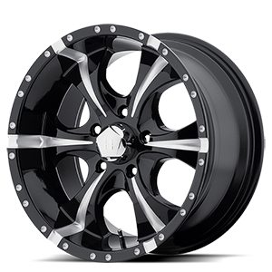 HE791 MAXX Gloss Black Milled 5 lug