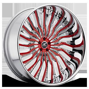 Nino Red with Chrome Lip 5 lug