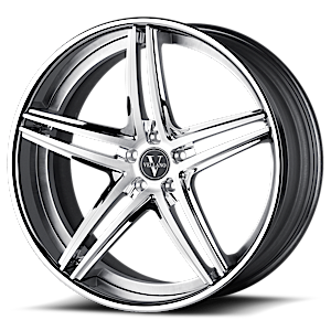VKH concave Chrome and Silver 6 lug