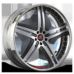 Tesla Gray and Black with Chrome Lip 5 lug