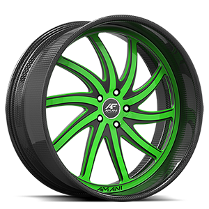 Entourage Green and Black with Carbon Lip 5 lug