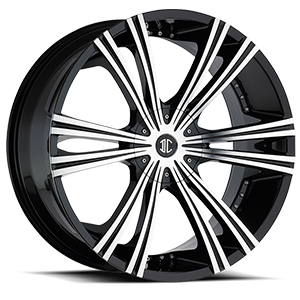 2 Crave Alloys No12 5 Gloss Black w/ Machined Face