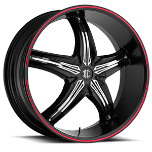 No5 Black w/Red Stripe 4 lug