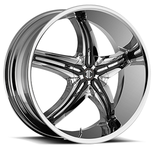 No5 Chrome / Glossy Black Attachment Style A 4 lug