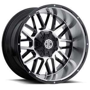 NX-12 Gloss Black Machined Face 8 lug