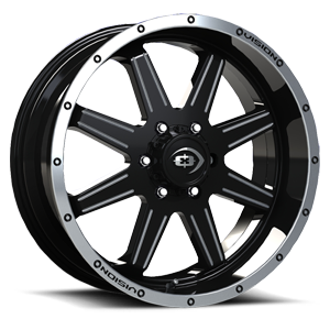 421 Cannibal Gloss Black Machined Lip Milled Spoke 6 lug