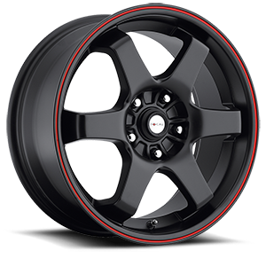 421 X Black with Red Stripe 5 lug