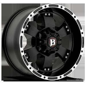 Ballistic Off Road 815 6 Flat Black w/ Machined Lip