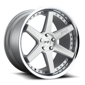 Altair - M193 Brushed Silver w/ Chrome Lip 5 lug