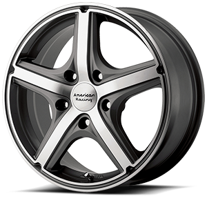 American Racing Custom Wheels AR883 Maverick 5 Anthracite w/ Machined Face