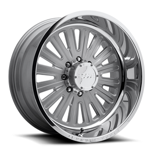 Foose Ascot - Forged HD 8 Silver w/ Polished Lip