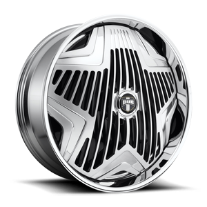 DUB Spinners Asterix - S818 5 Brushed w/ Polished Windows