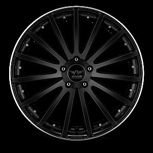AV6 Black Machined 5 lug