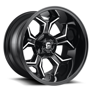 Avenger - D606 Gloss Black & Milled 5 lug