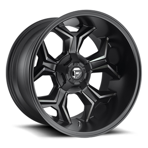 Fuel 1-Piece Wheels Avenger - D605 5 Black and DDT