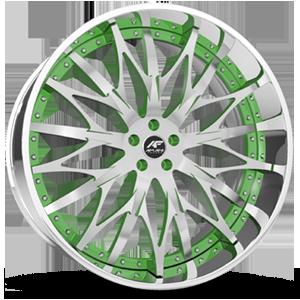 Majesty Green with Chrome Lip 5 lug