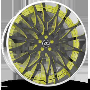Majesty Black & Yellow with Chrome lip 5 lug