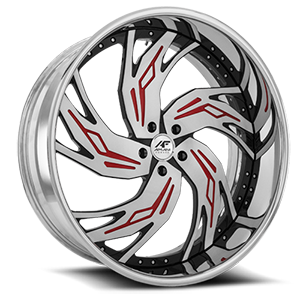 Bocca Brushed and Red 5 lug