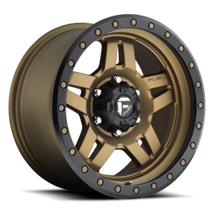 Fuel 1-Piece Wheels Anza - D583 6 Matte Bronze w/ Black Ring