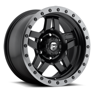 Fuel 1-Piece Wheels Anza - D557 6 Matte Black w/ Anthracite Ring