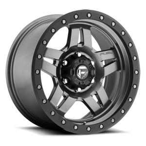 Fuel 1-Piece Wheels Anza - D558 6 Matte Anthracite w/ Black Ring
