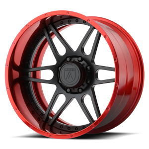 AB200 Black and Red 6 lug