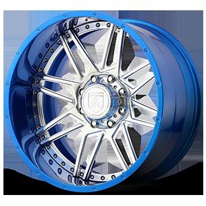 AB201 Chrome and Blue 8 lug