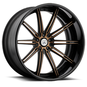Asanti Forged Wheels C/X Series CX811 5 Brown w/ Black Lip