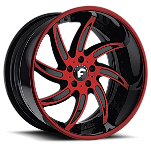 AZIONI Red/Black Center, Red/Black Lip 5 lug