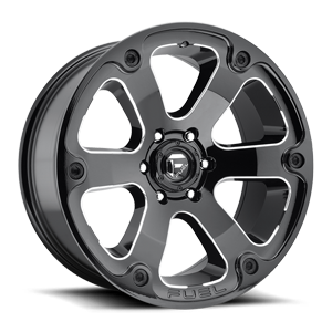 Fuel 1-Piece Wheels Beast - D562 6 Black & Milled