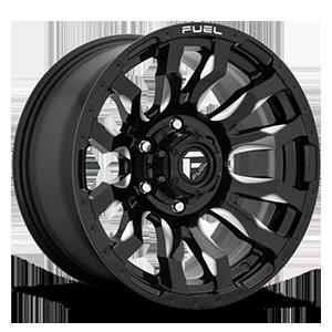 Fuel 1-Piece Wheels Blitz - D673 6 Gloss Black & Milled