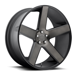 Baller - S116 Black & Machined with Dark Tint 6 lug