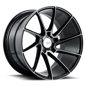 BM15 Gloss Black Double Dark Tint 5 lug