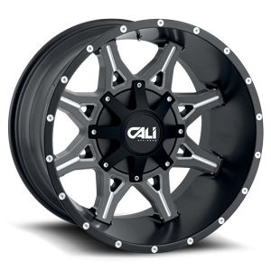 Obnoxious Satin Black Milled Spokes 6 lug