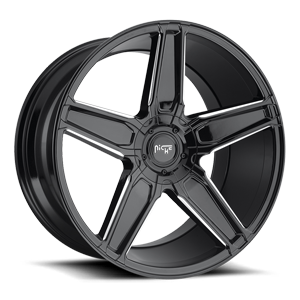 Cannes - M180 Gloss Black & Milled 20x10.5 5 lug