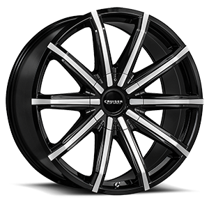 927 Spectrum Gloss Black with Machined Face 5 lug