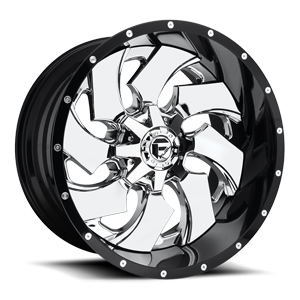 Fuel 2-Piece Wheels Cleaver - D240 5 Chrome Center and Gloss Black Outer