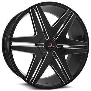 Cavallo Wheels CLV-17 5 Gloss Black Milled