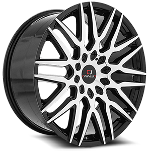 CLV-24 Gloss Black Machined 5 lug
