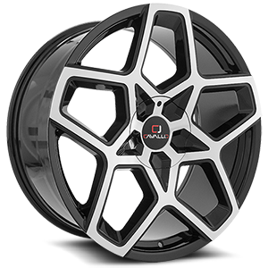 CLV-25 Gloss Black Machined 5 lug