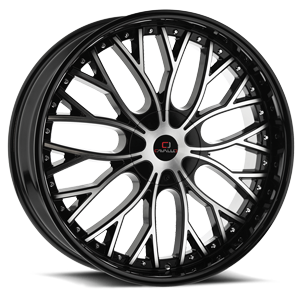 CLV-33 Gloss Black Machined 5 lug