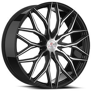 CLV-37 Gloss Black Machined 5 lug