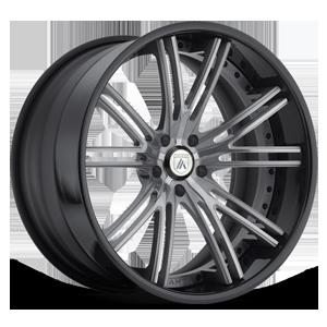 Asanti Forged Wheels C/X Series CX509 5 Gunmetal with Black Lip