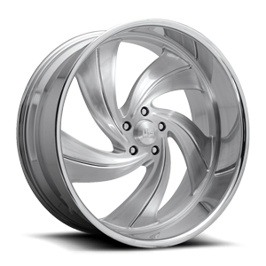 Cyclone 5 - Precision Series Brushed w/ Gloss Clear 5 lug