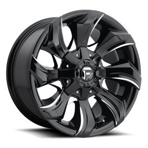Stryker - D571 Gloss Black & Milled 5 lug