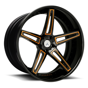 Asanti Forged Wheels C/X Series CX506 5 Black and Orange