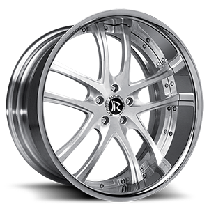 Rucci Forged Canoa 5 Brushed w/ Chrome Lip