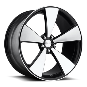 Casa Blanca - F511 Gloss Black with Brushed Face 5 lug
